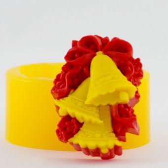 Рождественские колокольчики 3D - силиконовая форма