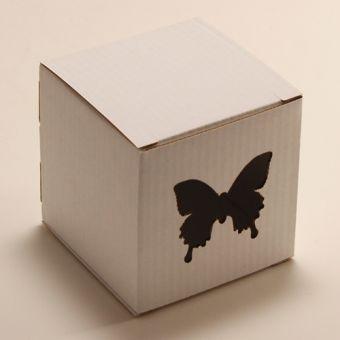 Кубик - Бабочка, белый, арт. 0842