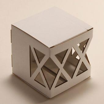 Картонная коробка для упаковки подарковКубик - Ромбы