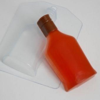 """Пластиковая форма для мыла """"Бутылка коньяка ED"""""""