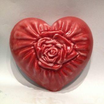 Шелковое сердце - пластиковая форма