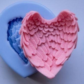 Крылья 3D, форма силиконовая