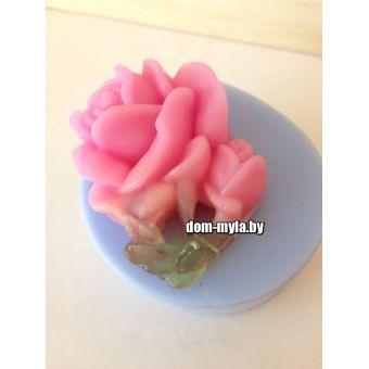 Роза с бутоном 2D  - силиконовая форма