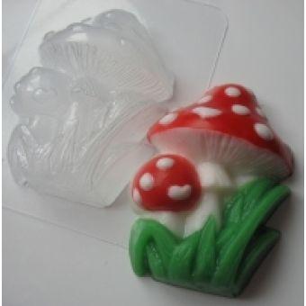 Мухоморы - пластиковая форма