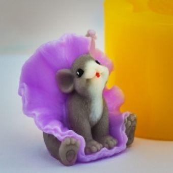 Мышка в юбке 3D - силиконовая форма