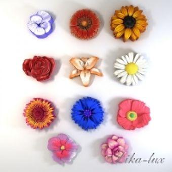 Набор Цветов 12 шт. - силиконовая форма