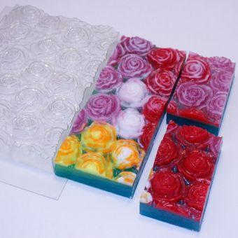 Розы под нарезку - пластиковая форма