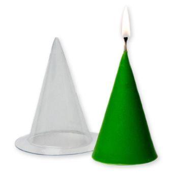 """Пластиковая форма для свечей """"Конус большой (pc)"""""""