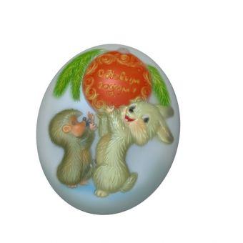 Заяц и еж, пластиковая форма
