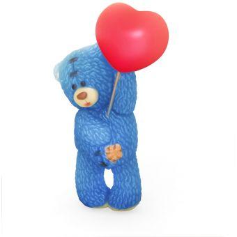 """Пластиковая форма 3D """"Медвежонок стоит с шариком сердечком"""" (2 половинки) (pc)"""
