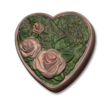 Розовое сердце РС - пластиковая форма