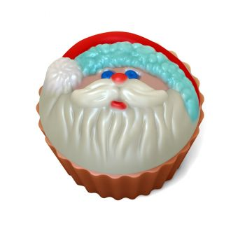 Кейк верхушка (Санта) (pc) - пластиковая форма