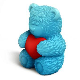 "Пластиковая форма 3D ""Медвежонок сидит с сердечком в обнимку"" (2 половинки) (pc)"