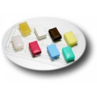 Прямоугольник-мини (набор) - пластиковая форма для шоколада