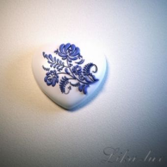 Сердце с орнаментом - силиконовая форма