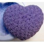 Сердце в розах 2D - силиконовая форма