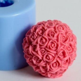 Шар из роз 3D - силиконовая форма