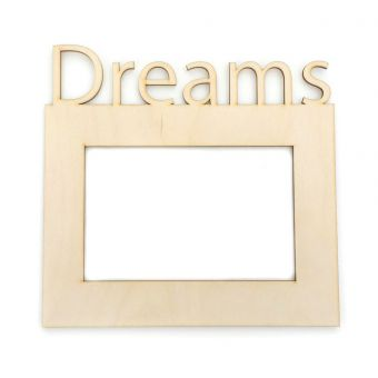 Деревянная заготовка для декупажа - Рамка для фото DREAMS 10 х 15 см