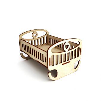 Деревянная заготовка для декупажа - Кроватка качалка малая