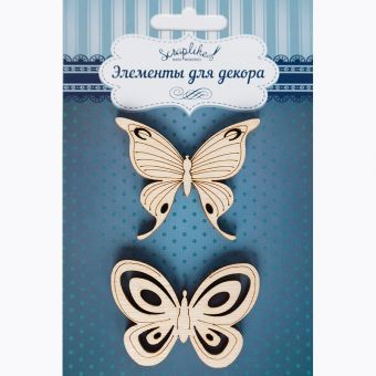 Набор деревянного декора, арт. ББЧ001 Бабочки №3