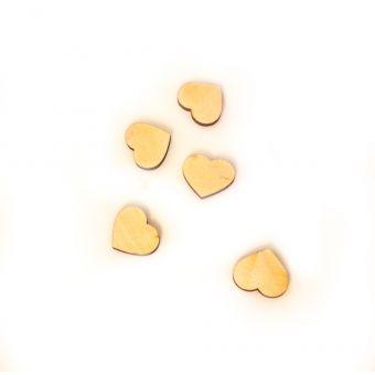 """Штучки для декора, Арт.Д001 """"Сердечко"""" 2 см, 5 шт."""