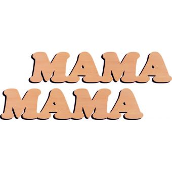 Деревянная заготовка для декупажа - Слово Мама 2 штуки