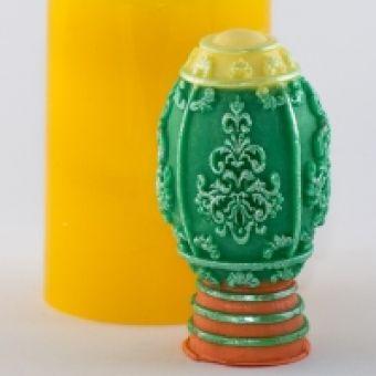 Яйцо с узором 3D - силиконовая форма